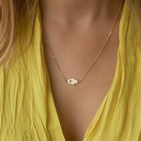 Hamsa Hand Fashion Stylish Necklace Jewellery _ 1206