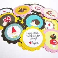 Woodland Nature Animal Critters Tags for Birthday and Baby Shower