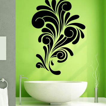 Vinyl Wall Decal Sticker Abstract Curls #1266