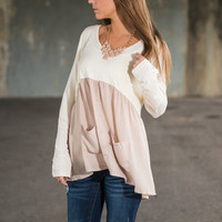 Happy Life Top, Ivory