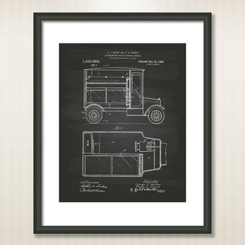 Refrigerator display vending 1920 Patent Art Illustration - Drawing - Printable INSTANT DOWNLOAD - Get 5 colors background