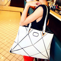 Korean Patchwork One Shoulder Stylish Casual Bags [6582641799]