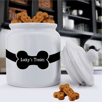 Colorful Classic Dog Treat Jars - Colorful Bones