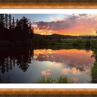 Rollinsville Sunset Reflections Framed Print