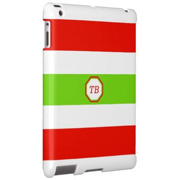 Stripes White Red Green