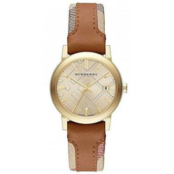 Burberry The City Haymarket Check Leather Ladies Watch BU9133-1