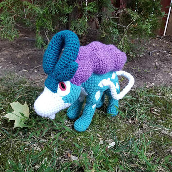 Pokemon Inspired: Suicune Amigurumi (crochet plush / stuffed toy) - READY TO SHIP!