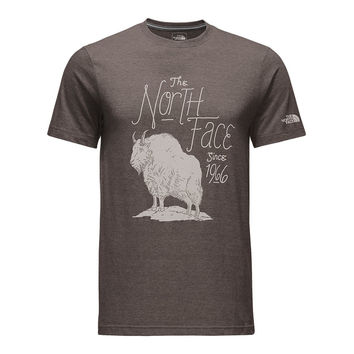 Men's Short Sleeve Billy Goat Tee in Falcon Brown Heather by The North Face
