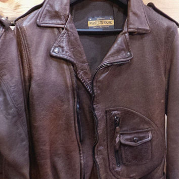Schott Nyc Perfecto 629 Brown D pocket vegetable retanned leather jacket NEW/WT