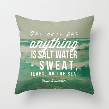 Jade Throw Pillows : Salt Water Cure Throw Pillow by Olivia from Society6 Pillows