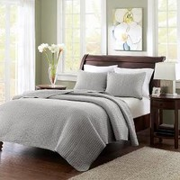 Mitchell 2 Piece Coverlet Set - Grey (Twin/Twin XL) : Target