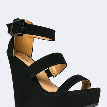 3 STRAP WEDGE SANDAL