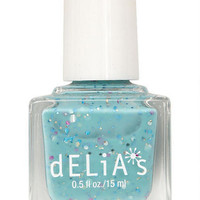 Light Blue Confetti Nail Polish