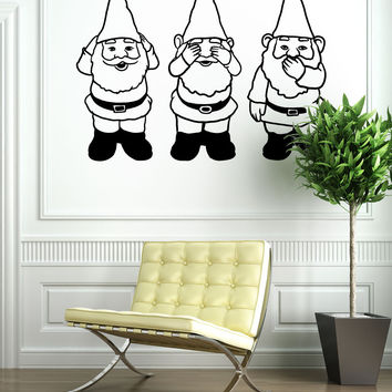 Vinyl Wall Decal Sticker Gnomes No Evil #OS_MB854
