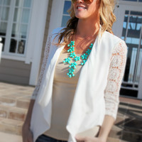 Sold Out! Lace Sleeved Blazer