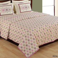 Bedding set with two matching pillow covers/90x108 inches/Bedspread/Bed sheets/Spring
