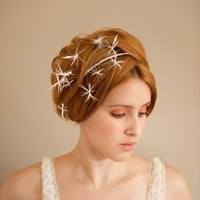 Starburst Bridal Fascinator by emilliner on Etsy