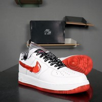 Nike Air Force 1 07 LV8 AF1 Only Once AF1 White Red Men Shoes Sneakers