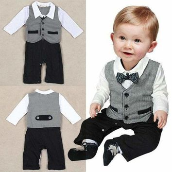 Toddler Kids Baby Boy Gentleman Rompers Jumpsuit Bodysuit Clothes Outfit 3 Style