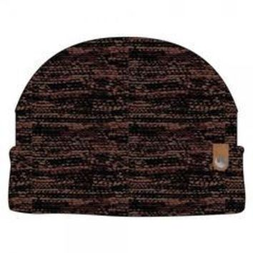 Rebel PU Leather Label Metal Watchmen Knit Cap