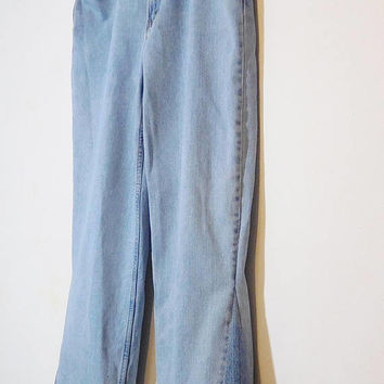 Levi Bell Bottom Jeans, Mens Bell Bottoms, 560, 38 x, x 35, Tall, Frayed Hem, Peace Sign Patch, Secret Stash Pocket, Hippie Upcycled Clothes
