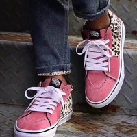 Supreme VANS Leopard fashion casual shoes