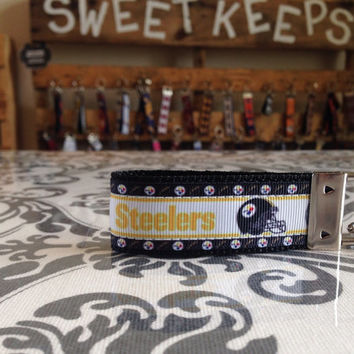 Pittsburgh Steelers Inspired Keychain Fob