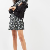 Topshop Floral Ruffle Minidress | Nordstrom