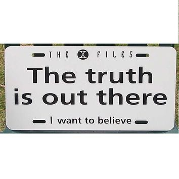 X-Files The Truth is Out There License Plate Car Tag