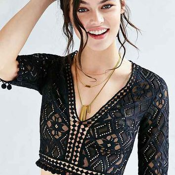 For Love & Lemons Florence Cropped Top