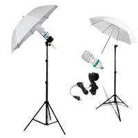 Portable Photo Studio Continuous Lighting One Umbrella Lamp Photography Stand Kit Studio Video Flash Light Umbrella - Walmart.com
