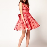 Nishe Butterfly Mesh Prom Dress at asos.com