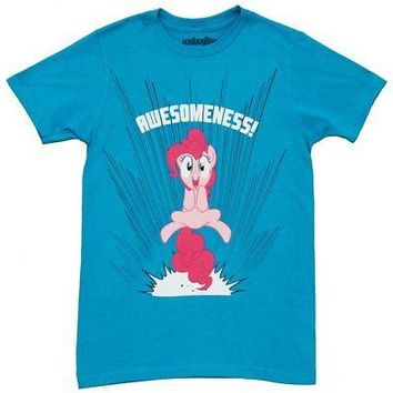 My Little Pony Pinkie Pie Awesomeness! Licensed Adult T-Shirt - Blue - S