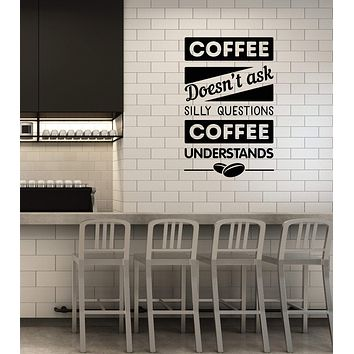 Vinyl Wall Decal Coffee Quote Shop Kitchen Dining Room Interior Stickers Mural (ig5812)