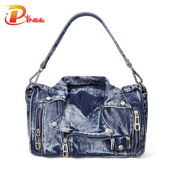 Designer Denim Handbags Casual Women Messenger Bags Jean Bags Womens Purses Hobo Travel Tote Cross Body Bag