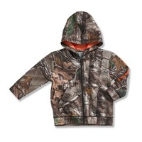 Infant/Toddler Boys' Camo Zip Front Sweatshirt