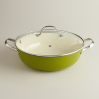 Green Lightweight Cast Iron Braiser
