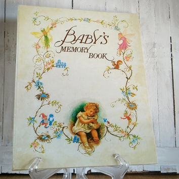 Vintage Babys Memory Book 1985 Hardback Keith and Ivy Moseley, Vintage Baby Book 80s Baby Record Book