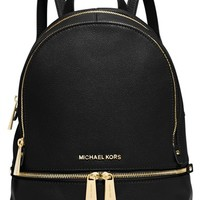 Women's MICHAEL Michael Kors 'Small Rhea Zip' Leather Backpack