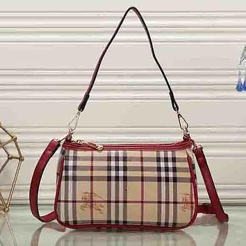 Perfect Burberry Women Fashion Leather Satchel Tote Shoulder Bag Handbag Crossbody