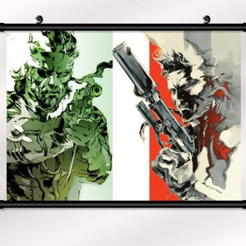 metal gear solid 4 Game Wall Scroll Printed Painting Home Decor Japanese Cartoon Decoration Poster 60x40cm