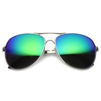 Retro Full Metal Wire Mirror Mirror Lens Aviator Sunglasses 9874