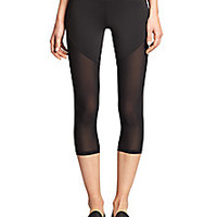 Heroine Sport - Brushed Tech Jersey Racing Capri Leggings - Saks Fifth Avenue Mobile