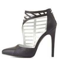Qupid Side Caged Pointed Toe Pumps by Charlotte Russe