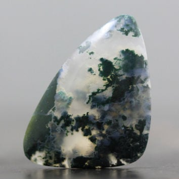 SALE - Moss Agate Cabochon - 36mm