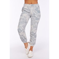 Up All Night Tie Dye Joggers (Slate)