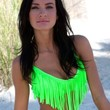 Blue Sky Swimwear Women's Fringe Swimsuit Top