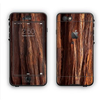 The Aged RedWood Texture Apple iPhone 6 LifeProof Nuud Case Skin Set