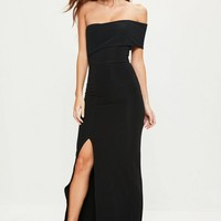 Missguided - Black One Shoulder Maxi Dress