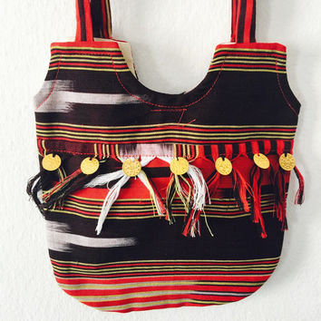 Gypsy bag hippie purse shoulder bag tribal  summer bag small bag wallet bag boho bag hobo purse handmade bag fabric bag cell phone sling bag